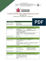 Jornadas 17-18-19 Oct - Cronograma