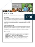 Resume for Mark Fryer