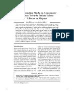 A Comparative Study on Consumer Attitude Towards Private Labels