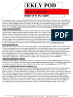 FRO WEEKLY PLAN OF THE DAY, THE WEEK OF 11 OCTOBER 2011