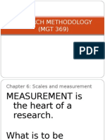 CHAPTER 6 - Scales and Measurement