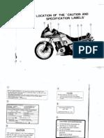 XJ650LJ Owners Manual
