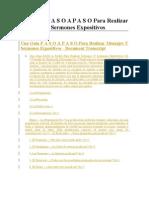 Una Guía P A S O A P A S O Para Realizar Mensajes Y Sermones Expositivos