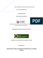 Construyendo Un Indice Coincidente de Recesion para la economia peruana