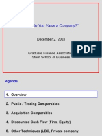 How to valuation a company
