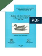 Resultados de Los Censos Neotropicales de Aves Acuaticas en El Peru 1992-1995