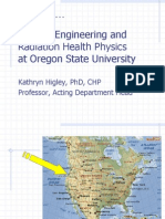 Nuclear Engineering and Radiation Health Physics at Oregon State University