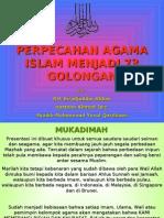 PERPECAHAN ISLAM MENJADI 73 GOLONGAN