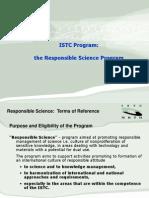 Программа МНТЦ «Ответственная наука»