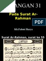 zBilangan 31 surat Ar-Rahman