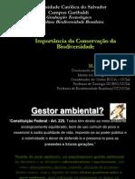 Importância da conservação da Biodiversidade 2010.2
