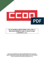 PLATAFORMA REINVINDICATIVA DE LA SECCION SINDICAL DE CC 00