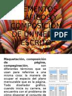 ELEMENTOS GRÁFICOS Y COMPOSICIÓN DE UN MEDIO ESCRITO