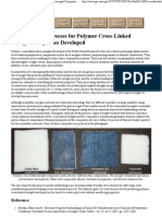 Manufacturing Process for Polymer Cross-Linked Aerogel Composites Developed