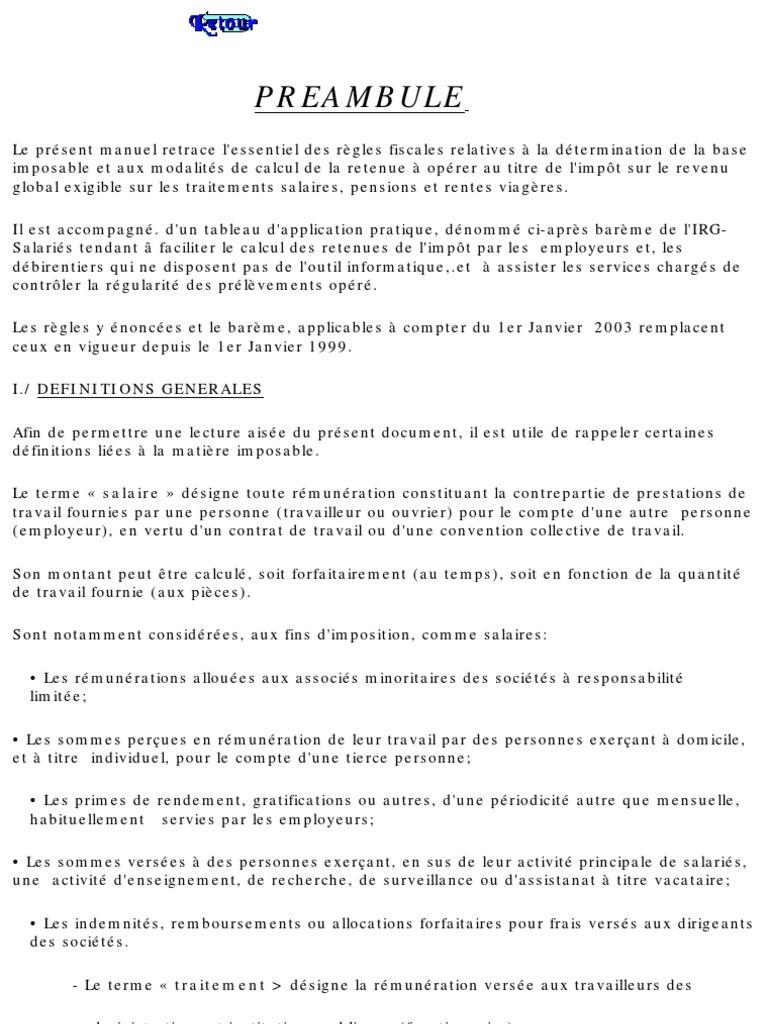 bareme irg 2003 algerie pdf