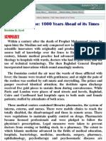 Z-Islamic Medicine 1000 Years Ahead of Its Times