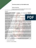 DESARROLLO PSICOSOCIAL DURANTE LOS TRES PRIMEROS AÑOS (1)
