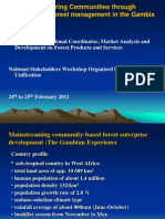 Participatory Community Forest Management in The Gambia