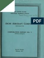 USSBS Report 20, Aichi Aircraft Company