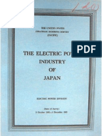 USSBS Report 40, The Electric Power Industry of Japan