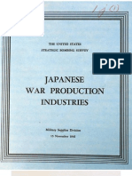 USSBS Report 43, Japanese War Production Industries