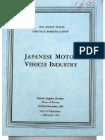 USSBS Report 47, Japanese Motor Vehicle Industry