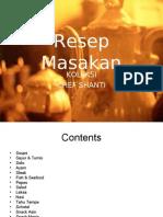 115 Resep Masakan Chef Shanti