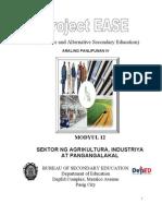 Modyul 12 - Sektor Ng Agrikultuta ya at Pangangalak