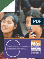 Candidaturas de mujeres en el proceso electoral 2011