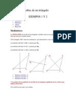 Las rectas notables de un triángulo
