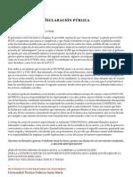 Declaración Pública MUI UTFSM - 13 de Octubre