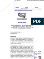 PERFIL DE PROYECTO DE INVERSIÓN PÚBLICA _MEJORAMIENTO DE LOS SERVICIOS EDUCATIVOS DE LA IES INCA GARCILAZO DE LA VEGA - DISTRITO DE CHUCUITO_