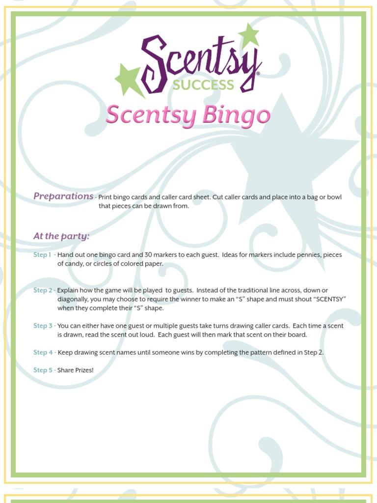 Scentsy Fun Bingo Game