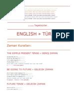 ENGLISH » TÜRKÇE