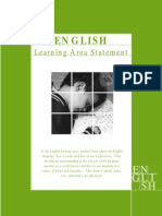 Curriculum Framework Learning Statement for English