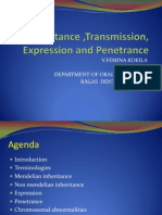 Inheritance Transmission and Penetrance