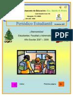 Periódico Estudiantil-Elpidio H  Rivera - Diciembre 2007