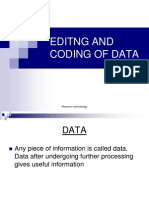 Editng and Coding of Data