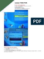 How to setup Coolsat 7000 PVR