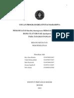PKM-P isolasi Bt dan aplikasinya terhadap ulat grayak -IKRA