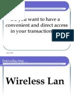 WIRELESS LAN  PRESENTATION