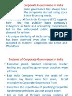 Evolution of Corp Governance