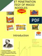 market penetration of Maggie Noodels