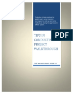Tips in Conducting Project Walk Through V2