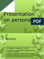 Presentation on Personality 2