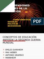 Las Dimensiones Sociales de La EducaciÓn