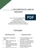 Unlawful Occupation of Land in Malaysia