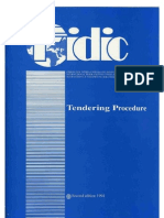 FIDIC Tendering Procedures Second Edition 1994