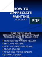 HOW TO APPRECIATE PAINTING