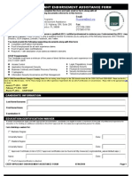 Endorsment Assistance Form